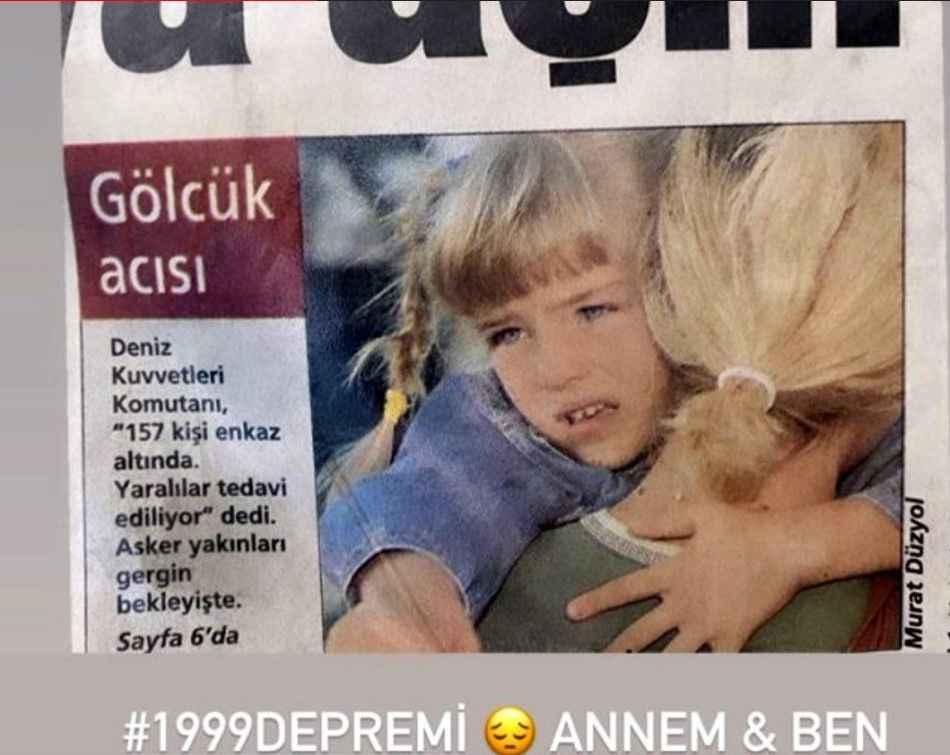 Gölcük depreminde göçük altından çıkarılan oyuncudan İzmir paylaşımı -  Magazin