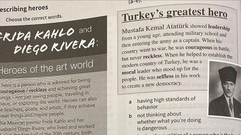 Rum Eğitim Bakanlığı Kitap Mustafa Kemal Atatürk Talimatı